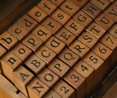 Antique Alphabet Stamp Set