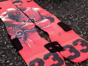 Chicago Bulls Flu Game Socks