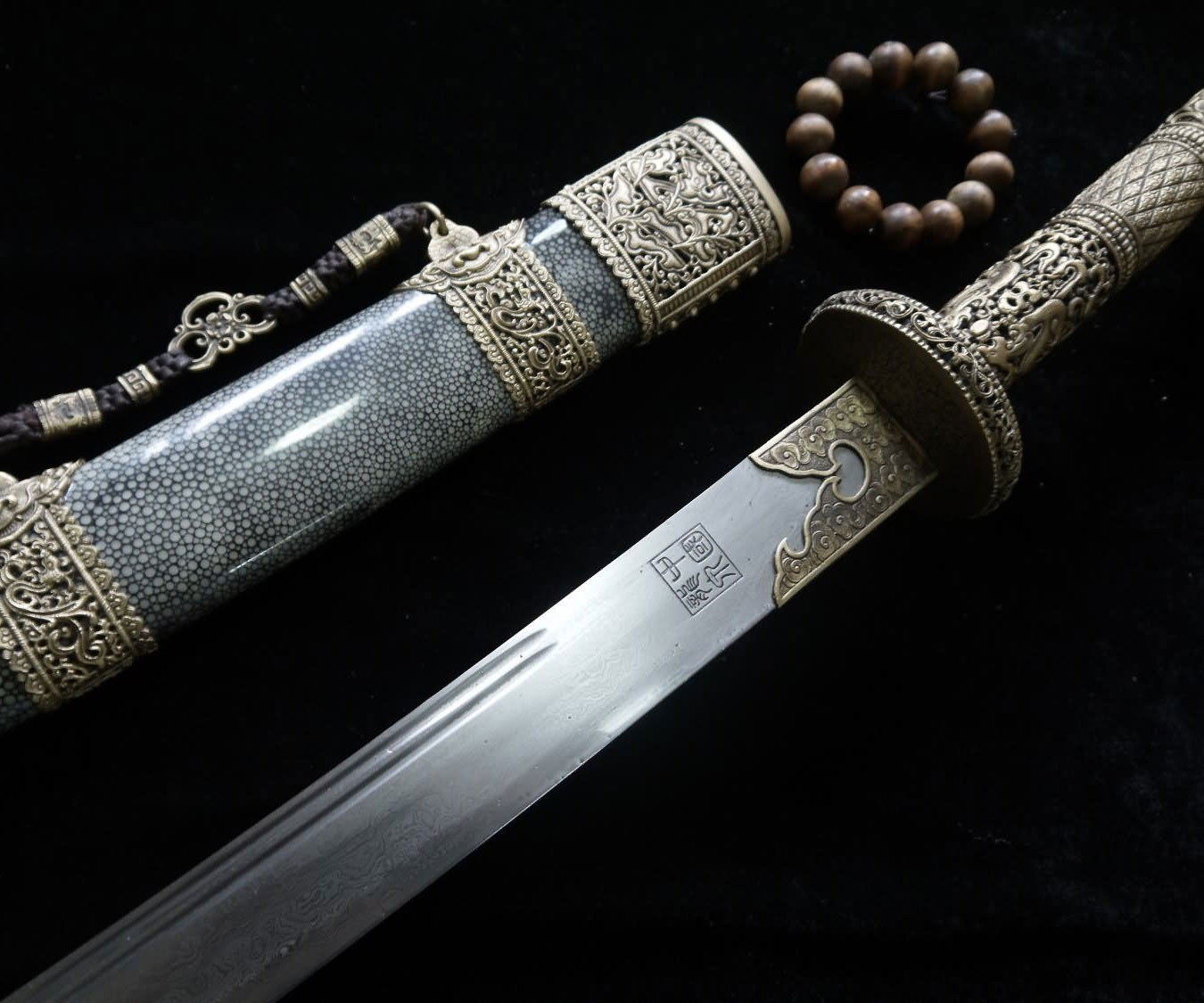 Chinese Damascus Steel Sword 1