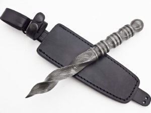 Damascus Double Round Edge Knife