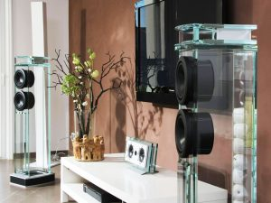 Diamond Glass Tower Speakers