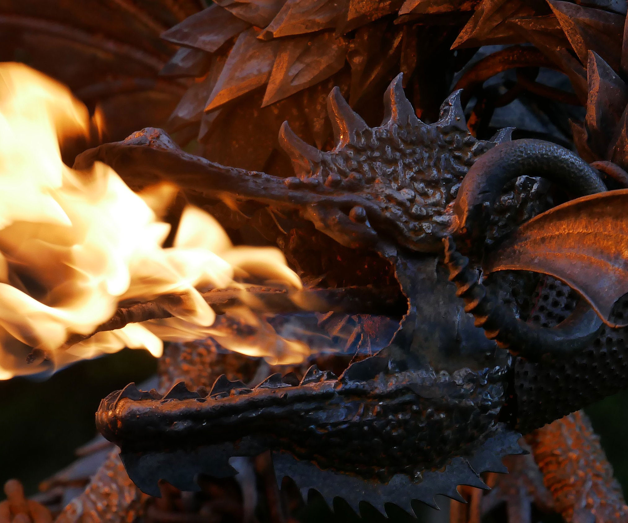 Fire Breathing Dragon Sculpture 1