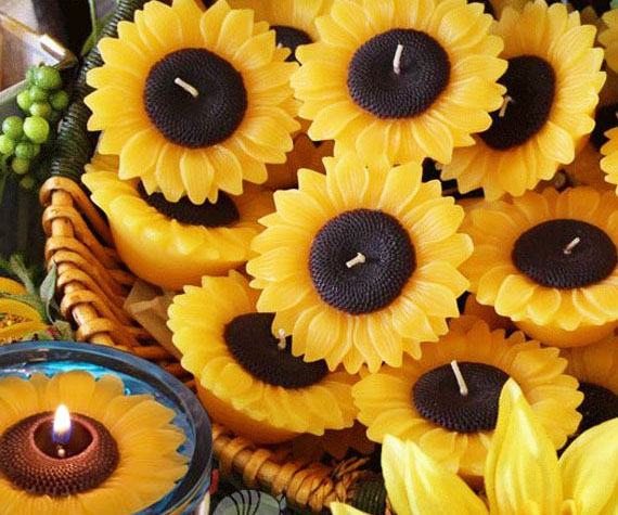 Floating Sunflower Candles