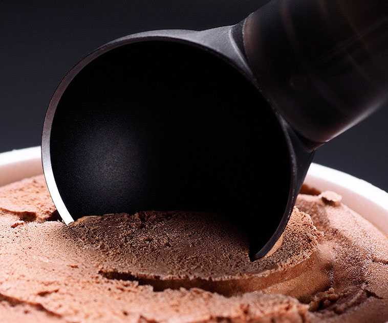Heated Thermo-Ring Ice Cream Scoop