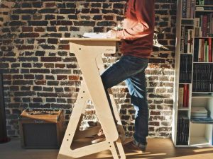 Height Adjustable Wood Standing Desk