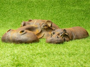 Hippo Lawn Ornaments
