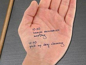 Human Hand Sticky Notes