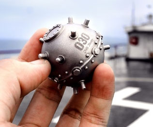 Naval Mine Stainless Steel Ice Cube 1