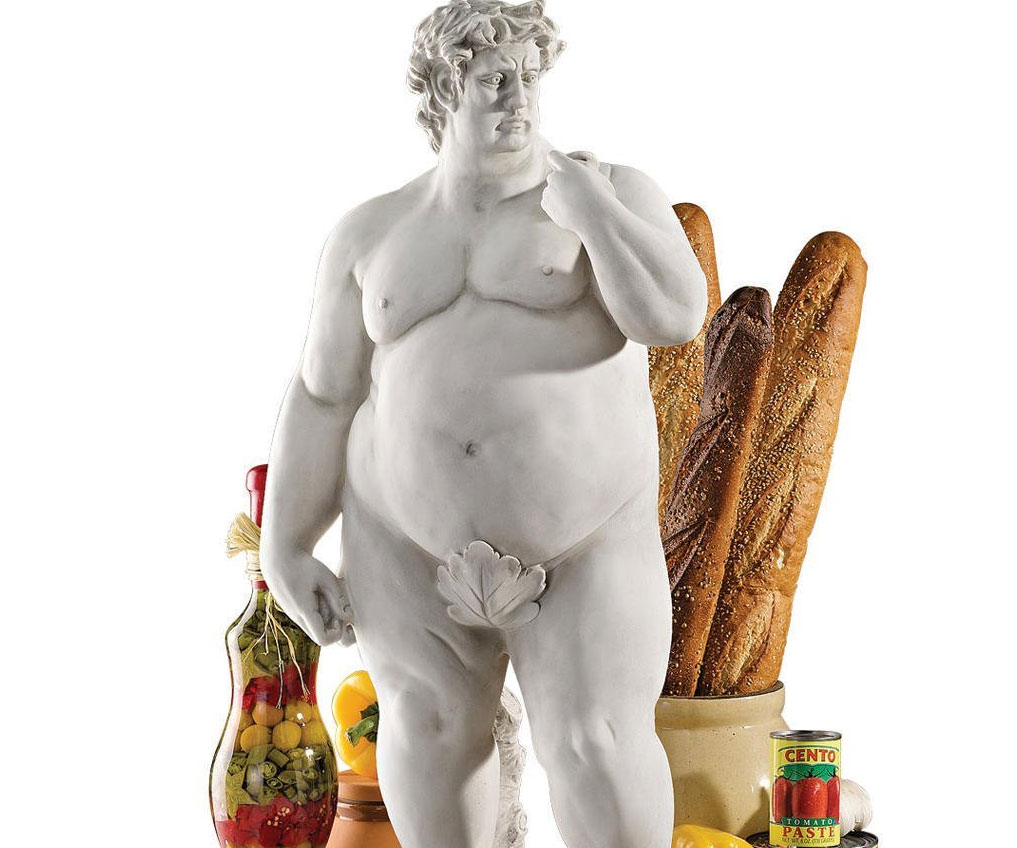Obese Statue Of David