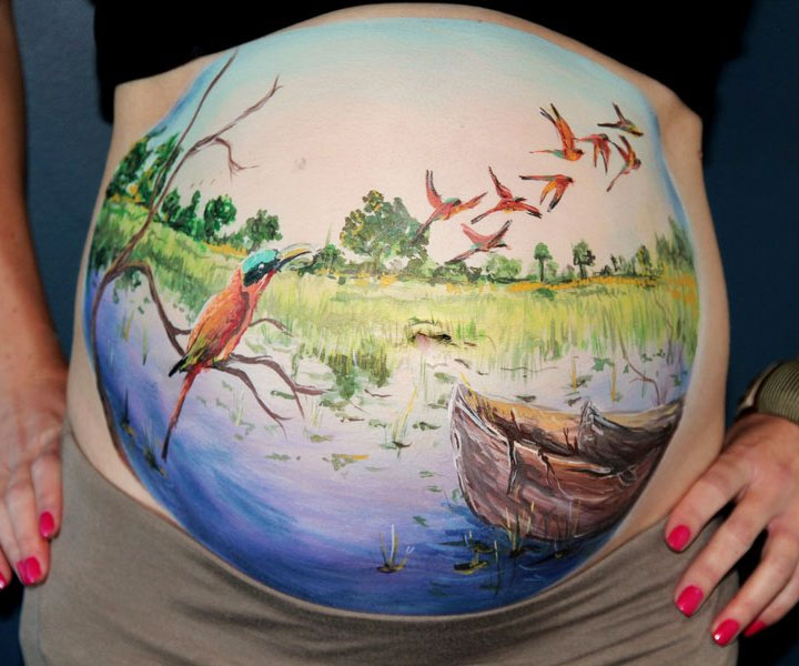 Pregnancy Belly Painting Kit 1