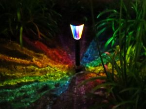 Rainbow Kaleidoscope Solar Path Light 1