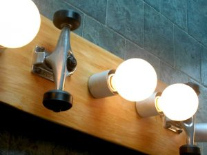 Skateboard Vanity Light 1