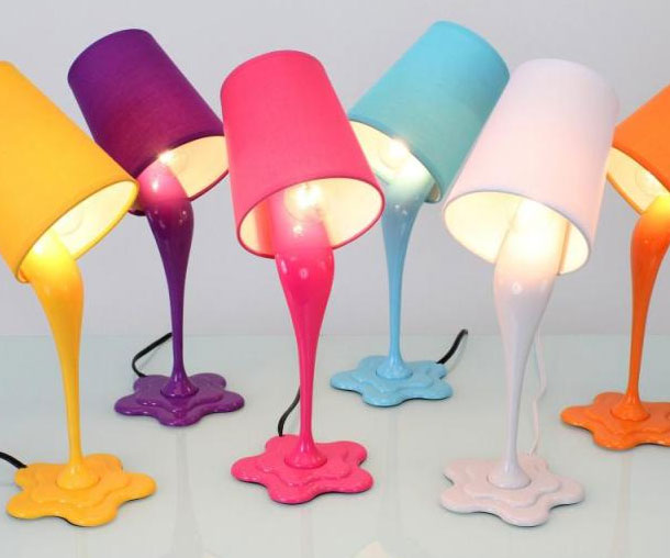 Spilled Paint Lamps
