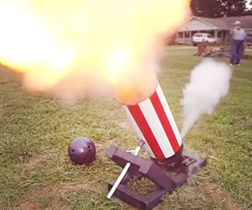 The Bowling Ball Cannon