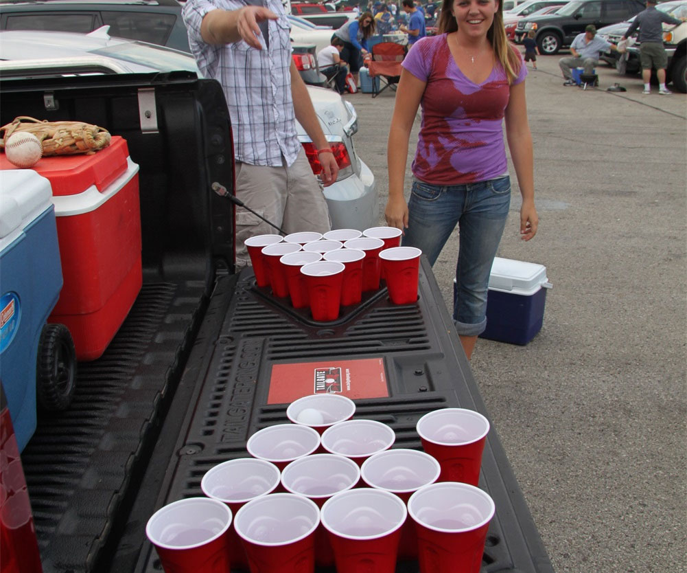 Truck Bed Beer Pong Table 1