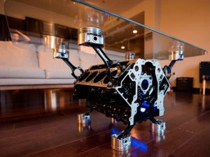 V8 Engine Block Coffee Table 1